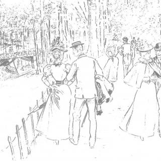 chemin de l'Aube, par Mars, Bruxelles Album, 1897.