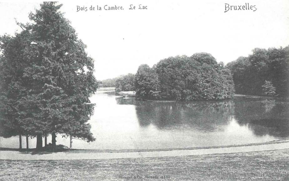 Le lac, vu du côté antérieur droit, carte postale. Vers 1900.